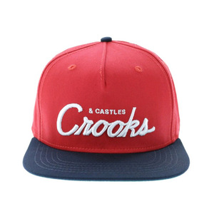 Crooks and Castles TEAM CROOKS SNAPBACK TRUE RED-NAVY
