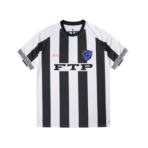 FTP CHECKERED SOCCER JERSEY(WHITE/BLACK)