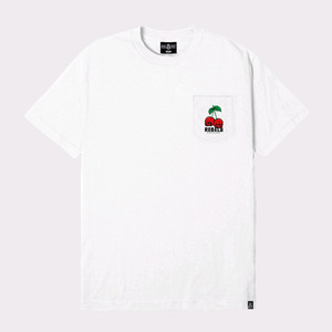 REBEL8 FRUITS OF LABOR POCKET TEE WHITE