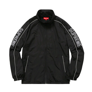 SUPREME striped windbreaker
