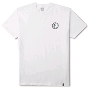HUF CHECKERED TEE WHITE
