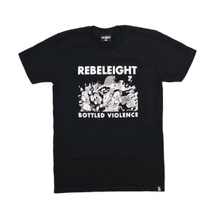 REBEL8 BOTTLED VIOLENCE SOFT TEE BLACK