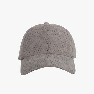 DOPE Perforated Suede Cap CHARCOAL GREY