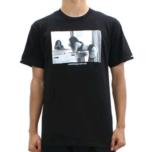 CROOKS AND CASTLES Crew T-Shirt - Come Get It BLACK