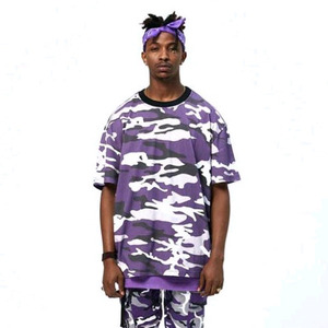 FNTY Multi Camo Oversize T-shirt PURPLE
