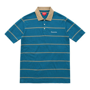 SUPREME striped polo