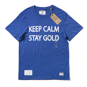 QANTO DE LOCOS STAY GOLD2 TEE_BLUE