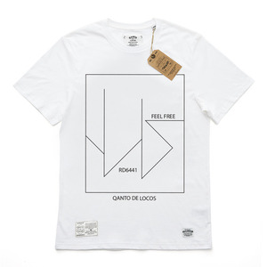 QANTO DE LOCOS FEELFREE TEE_WHITE