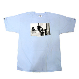 CROOKS & CASTLES Men's Knit Crew T-Shirt - Come Get It skyblue