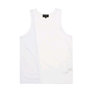 BLACKSCALE Split Mesh Tank Top White