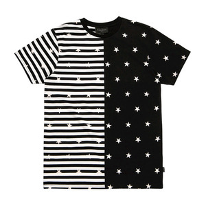 [2017 Summer] BLACKSCALE Split Stripe T-Shirt Black