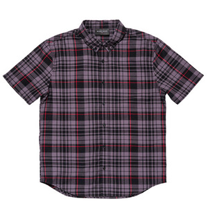 BLACKSCALE Signature Plaid Short Sleeve Button Down Black