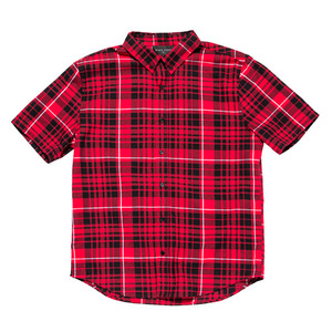 [2017 Summer] BLACKSCALE Signature Plaid Short Sleeve Button Down Red