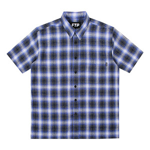 FTP  PLAID BUTTON UP(BLUE)