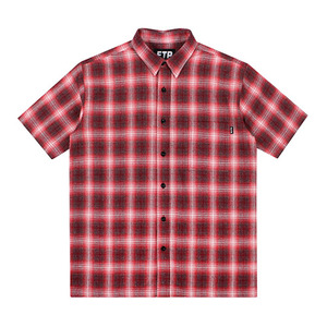 FTP PLAID BUTTON UP(RED)