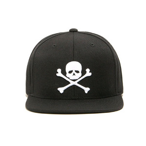 [2017 Summer] BLACKSCALE Skull & Bones Snap Back Black
