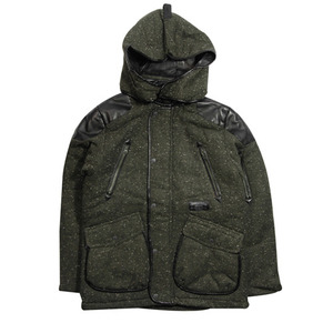 CROOKS&CASTLES MENS WOOL HOOD JACKET [2][45%SALE]