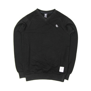 CROOKS&CASTLES MEN'S KNIT SCORPION V-NECK CREW PULLOVER