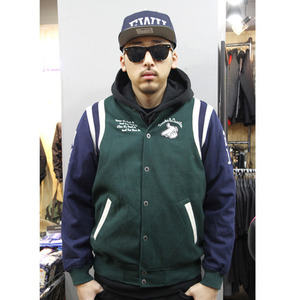 CROOKS&CASTLES MENS WOVEN AIR GUNS B BASEBALL JACKET [2]