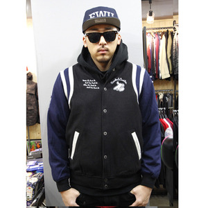 CROOKS&CASTLES MENS WOVEN AIR GUNS B BASEBALL JACKET [3]
