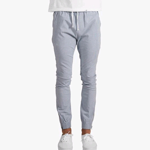 DOPE Cosign Chambray Side-Zip Joggers (Blue)