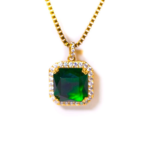 Design By TSS EMERALD GREEN Necklace