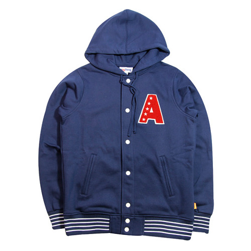 ANYTHING 5 STAR SNAP FRONT HOODIE [2]