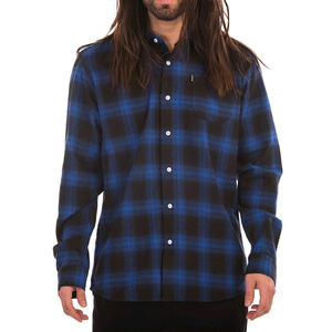 CROOKS & CASTLES  L/S Flannel Shirt - Cobalt Multi