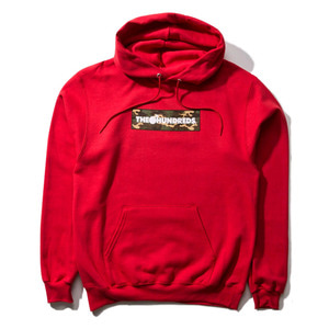 THE HUNDREDS X CHAMPION CAMO BAR PULLOVER RED