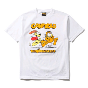THE HUNDREDS X Garfield Chase T-Shirt WHITE