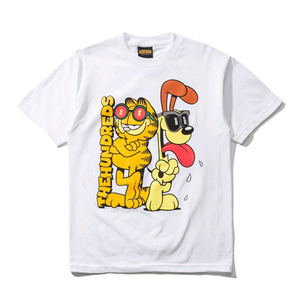 THE HUNDREDS X Garfield Odie T-Shirt WHITE