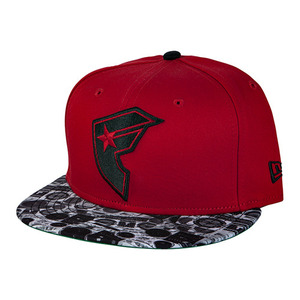 FAMOUS BOOMBOX BOH SNAPBACK RED
