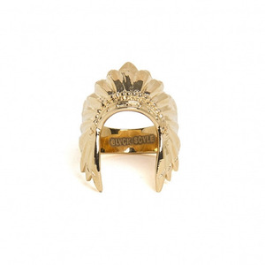 BLACK SCALE Warbonnet Ring (Gold)