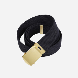 ROTHCO Military Color Web Belt (Black+Gold