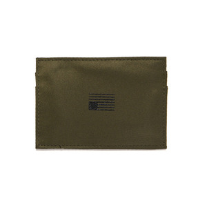 BLACK SCALE NYLON CARD WALLET (OLIVE)
