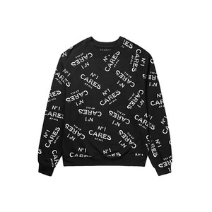 U.S.A MERCHANDISING REASON No1 Cares All Over Crewneck (BLACK)